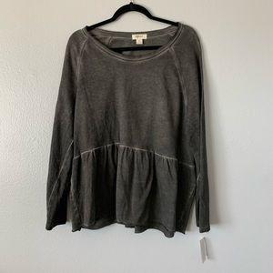Style & Co Stonewash peplum Sweater